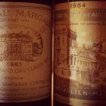 vieux millésime-margaux 1981, ducru beaucaillou 1964