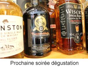 Degustation vins whisky
