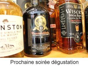 Degustation vins whisky