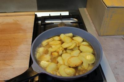 écrasé de pomme de terre aux chanterellles 9